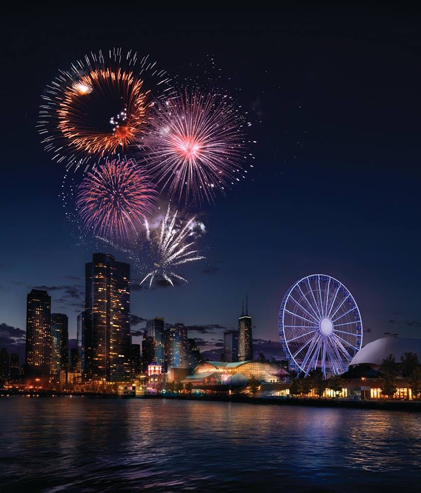 neighborhood fireworks navy pier chicago tourist attractions