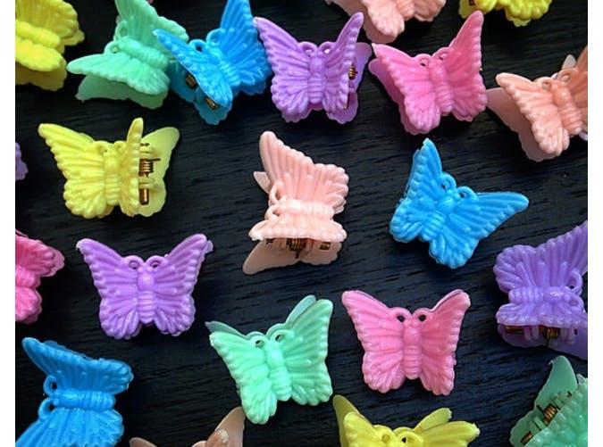 nostalgic butterfly clips 90s