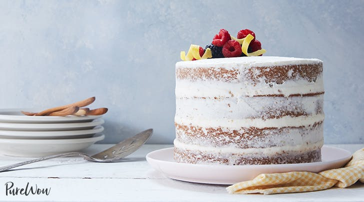 Naked Lemon and Olive Oil Layer Cake