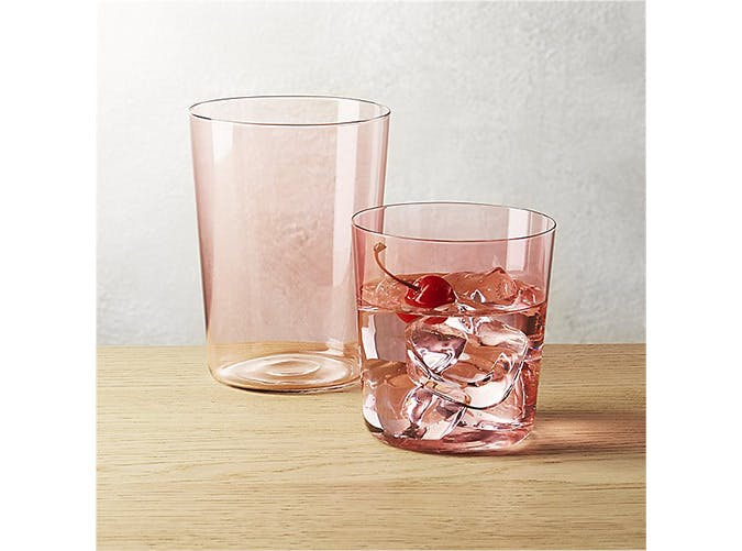 pink drink glasses