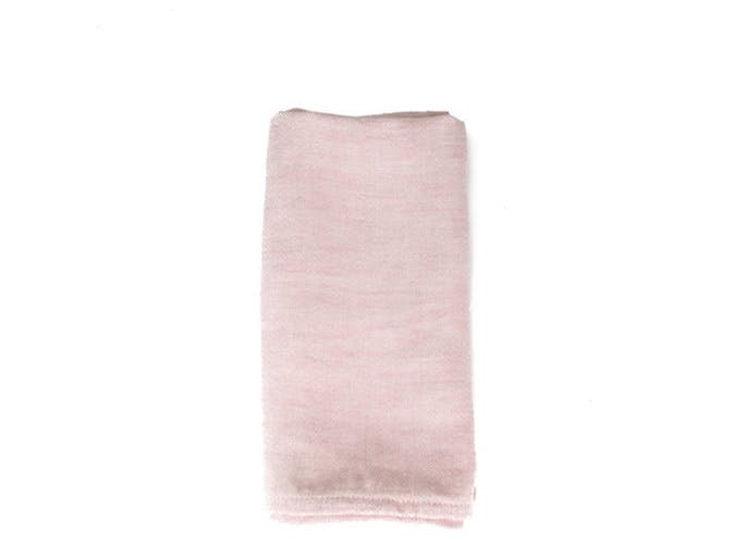 pink linen napkin