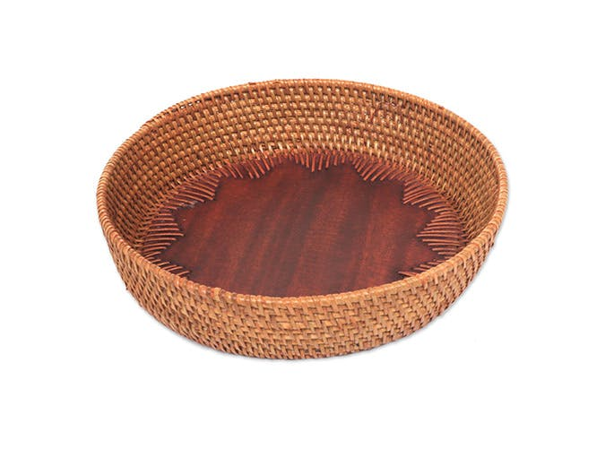 rattan tray