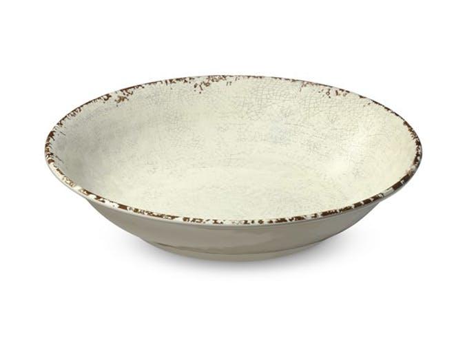 rustic melamine bowl