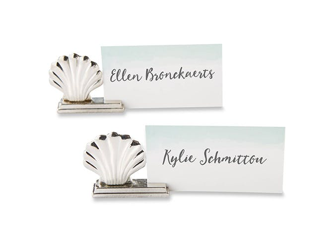 scallop placecard holders