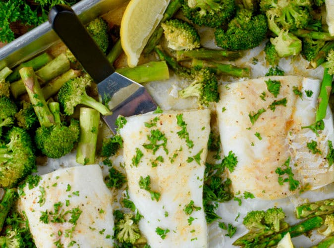 sheet pan lemon pepper baked cod and vegetables 501