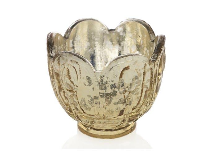 silver votive lotus