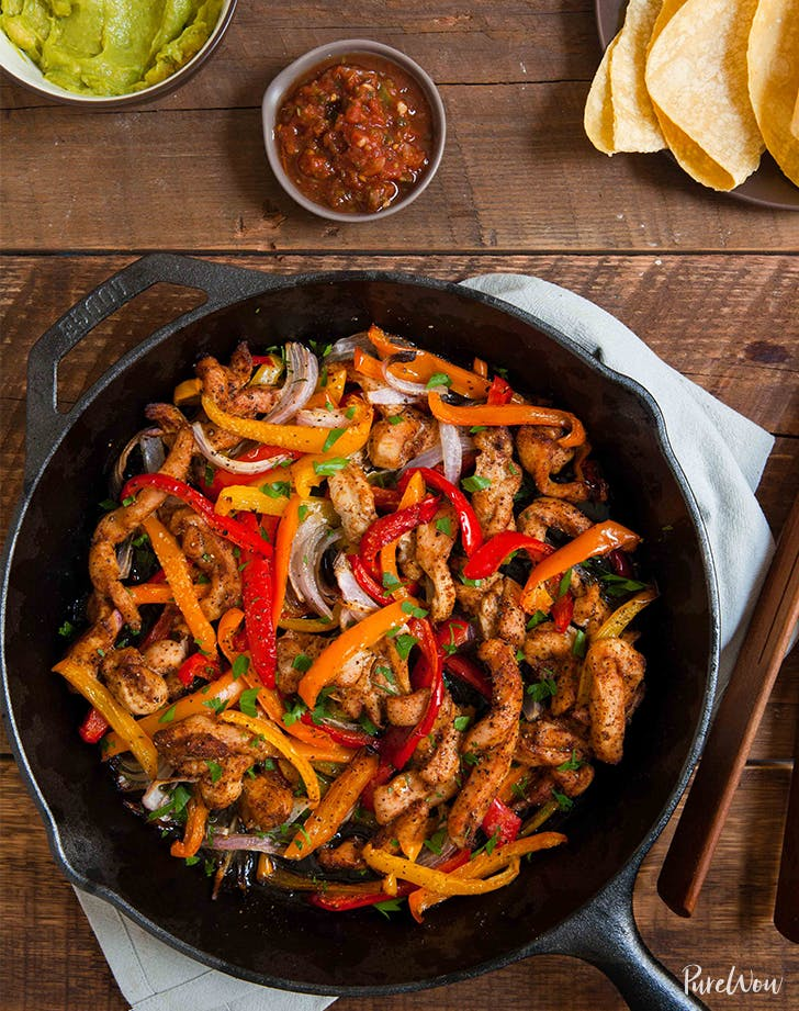 skillet chicken fajitas LIST