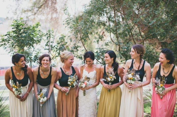 skirts mismatched bridesmaid dresses