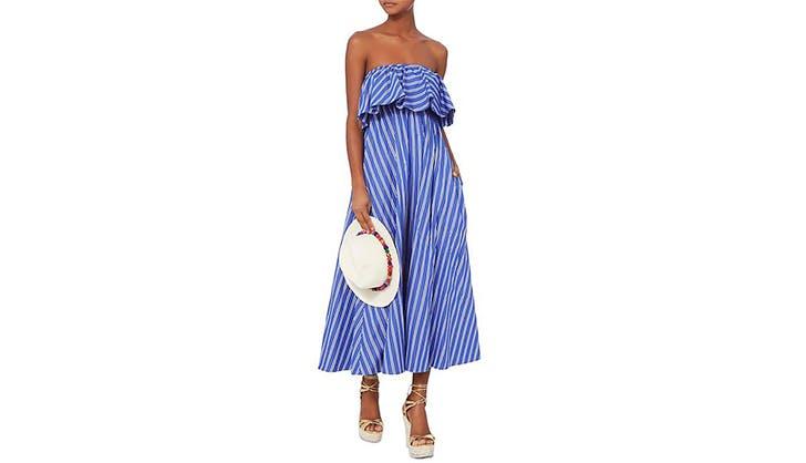strapless midi dress