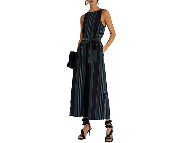 striped culotte jumpsuit wear to work3