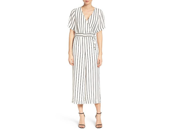 striped jumpsuit for work