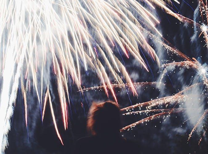 summer kids fireworks