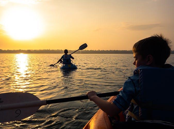 summer kids kayak