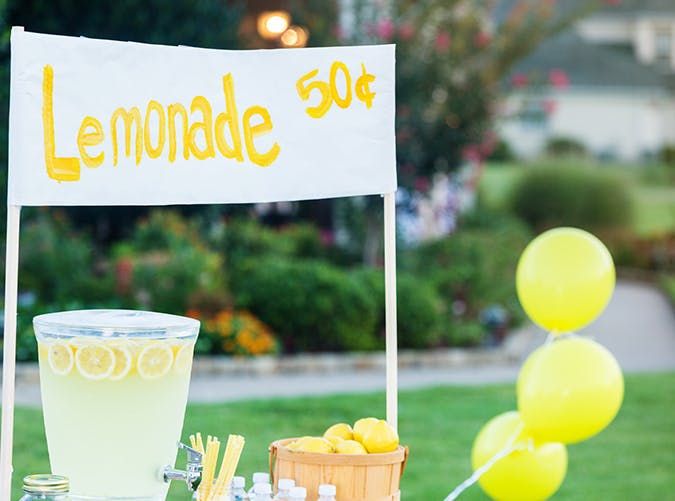 summer kids lemonade