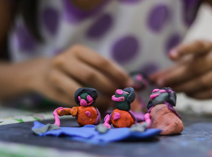 summer kids playdough