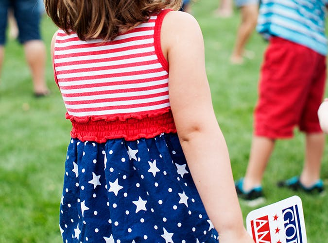 summer kids red white blue