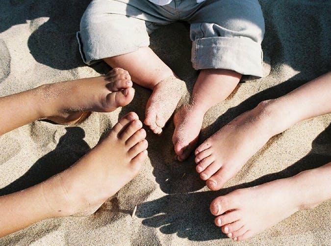 summer kids sandy