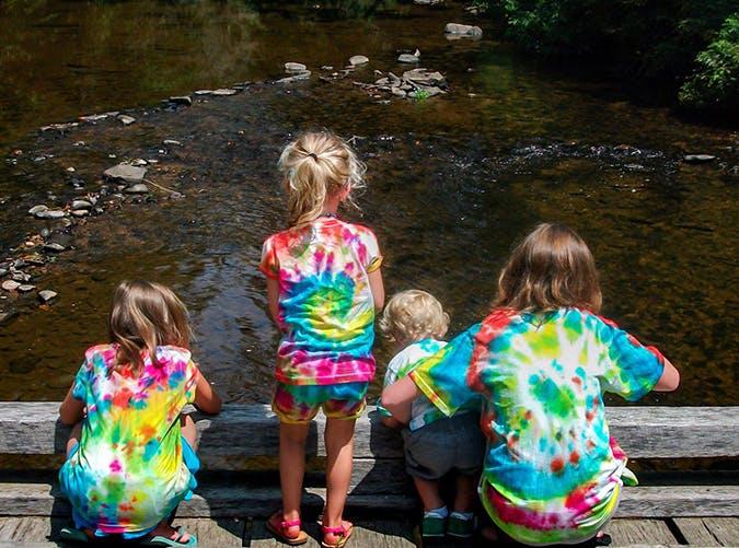 summer kids tie dye