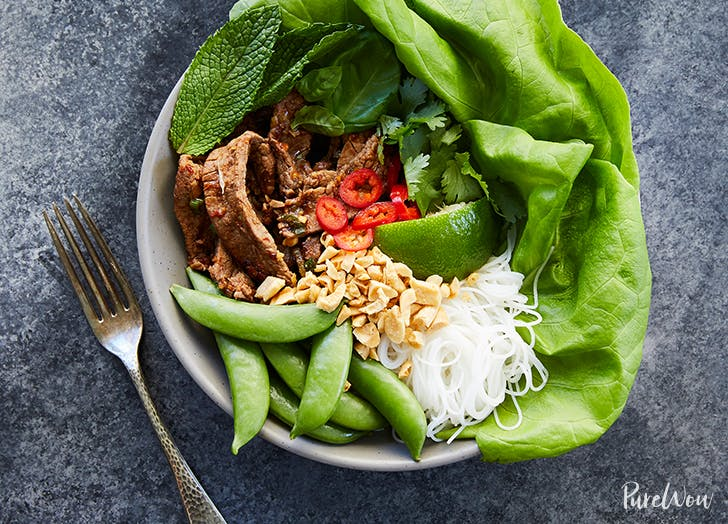 thai beef bowls