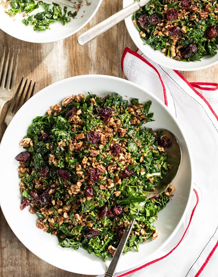 the best shredded kale salad with nutritional yeast dressing