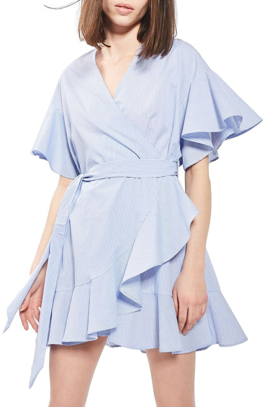 topshop wrap dress miami