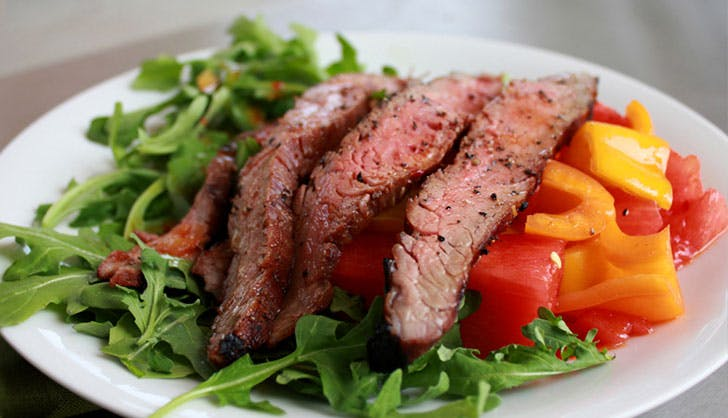 trader joes recipes flank steak salad