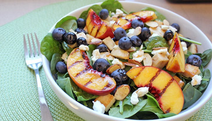 trader joes recipes peach salad