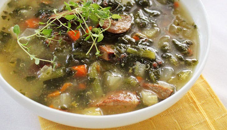 trader joes recipes sausage kale soup