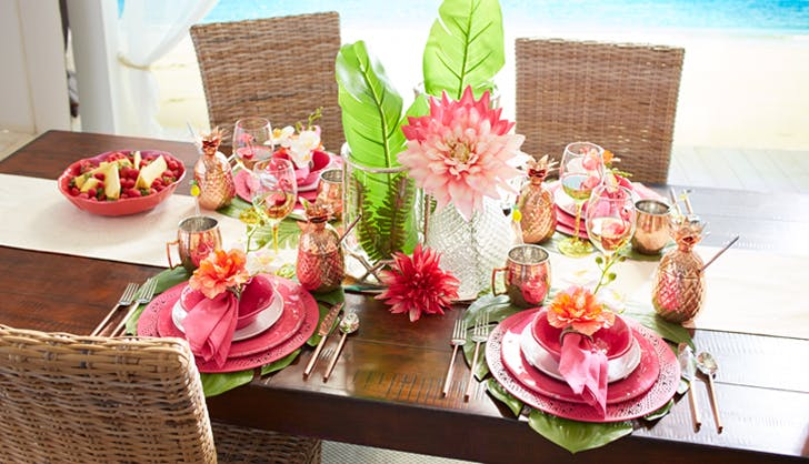 tropical tablescape pier 11