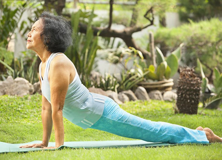 types of people at yoga old person