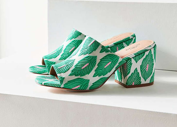 urban outfitters palm print mules NY