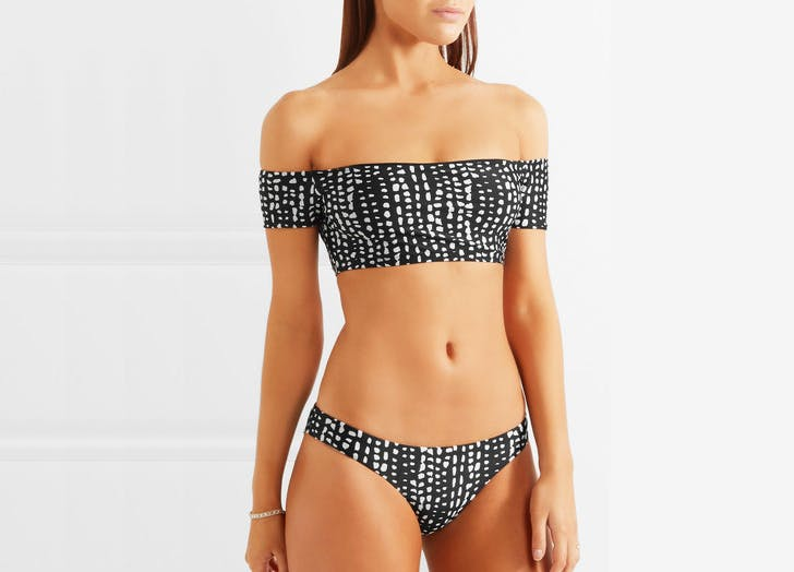 vix dot print off shoulder bikini swimsuits NY