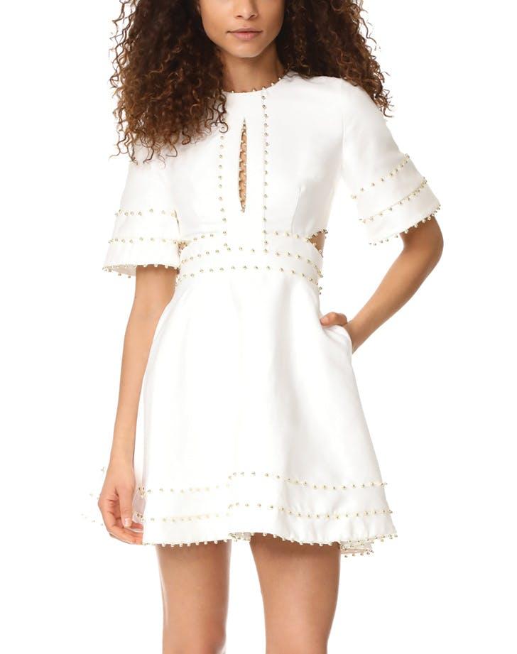 white dress beads