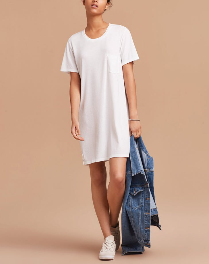 white dress tshirt
