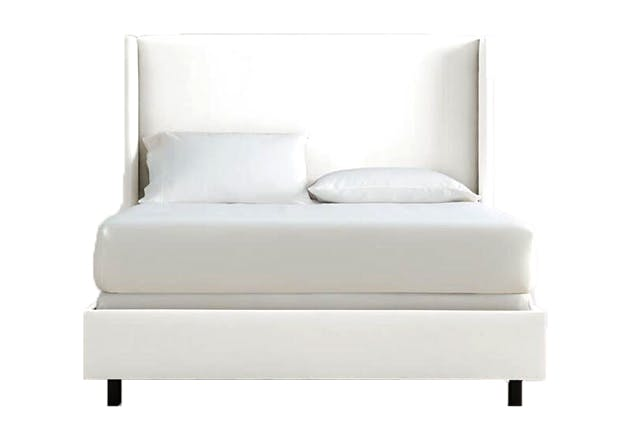 wood bed white