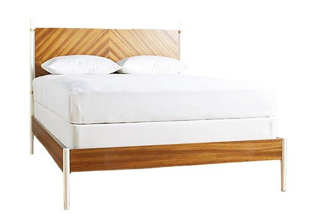 wood bed zebra