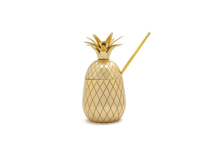 wp gold pineapple tumbler