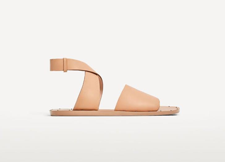 zara minimalist sandals NY