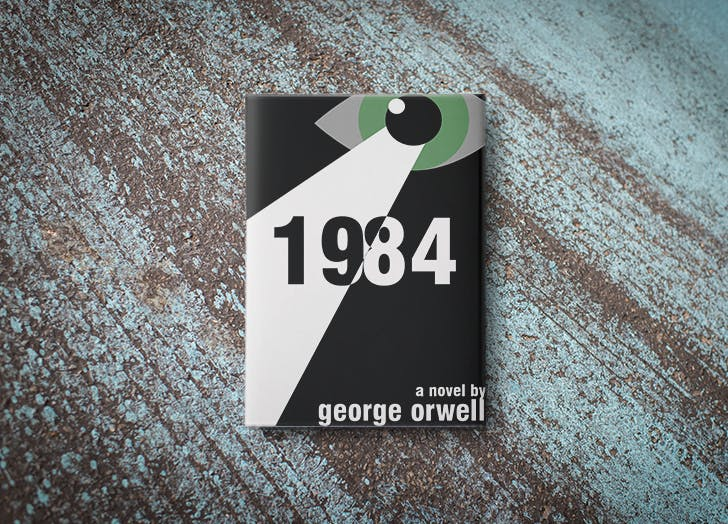 1984 by George Orwell book cover