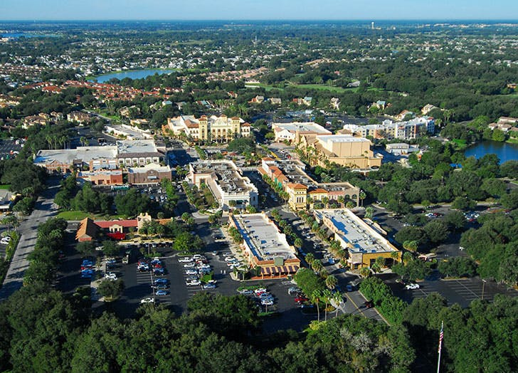 Aerial view of The Villages in Florida