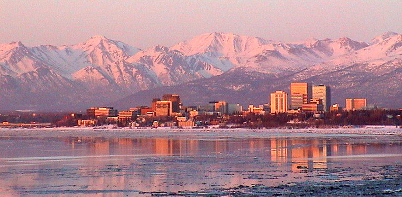 Anchorage Alaska sunset