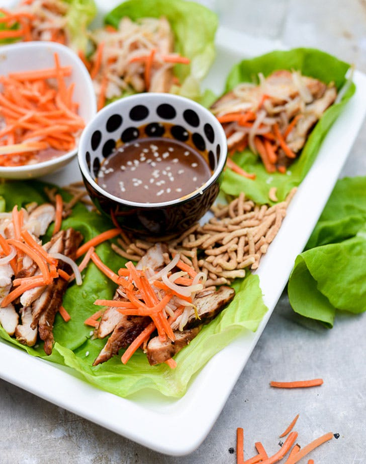 Asian Chicken wraps 4th of july appetizer