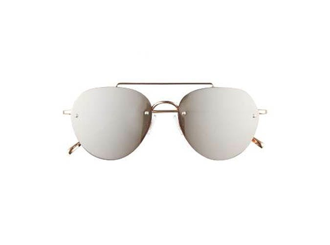BP mirrored round sunglasses