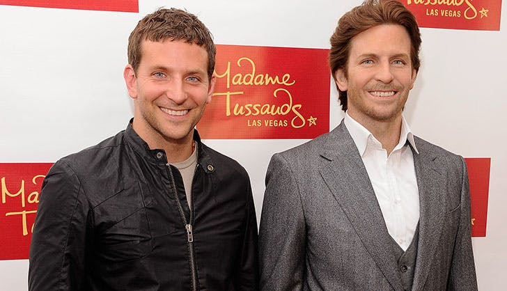 Bradley Cooper Posing with Wax Figure