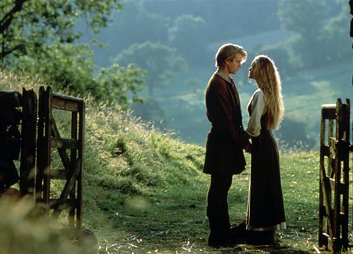 Buttercup and the Man in Black from The Princess Bride