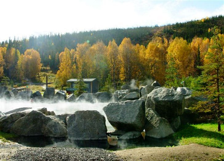 Chena Hot Springs in Fairbanks Alaska