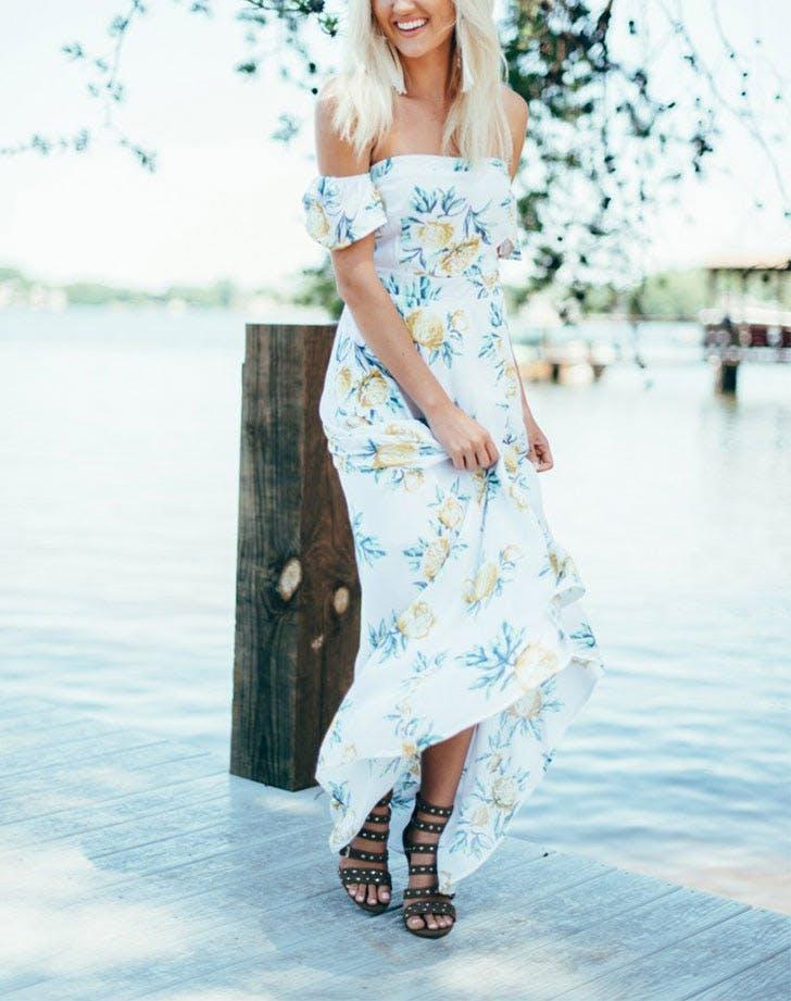 DAL dresses floral maxi LIST