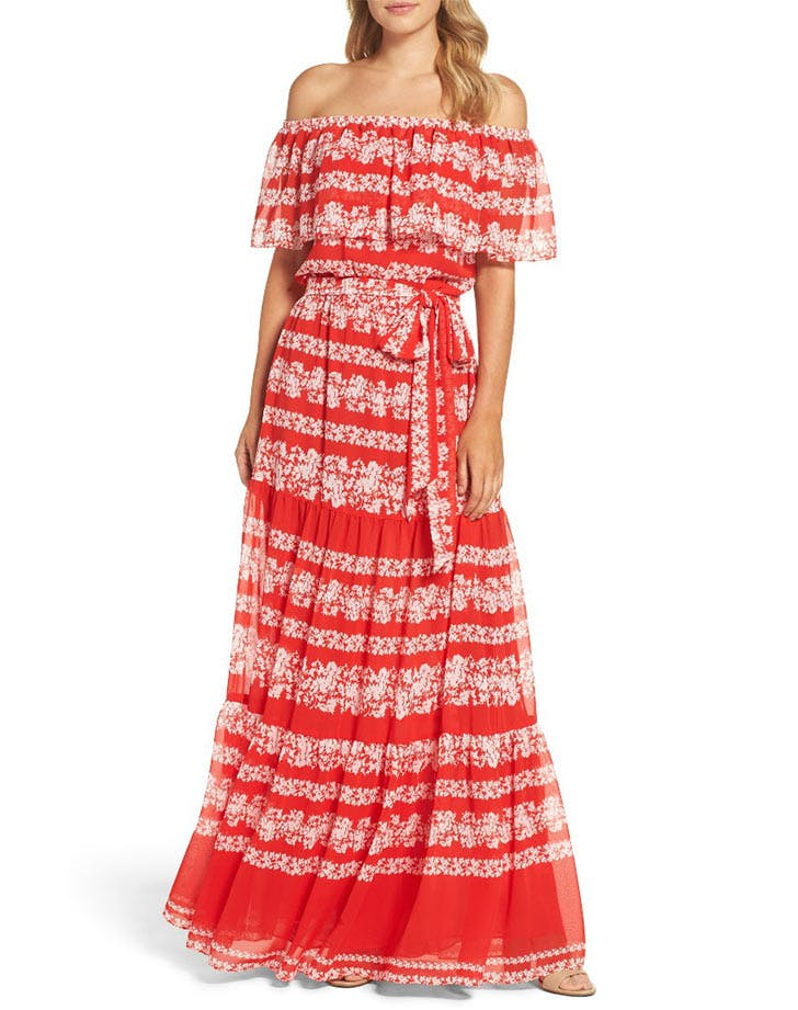 DAL dresses maxi ruffles LIST