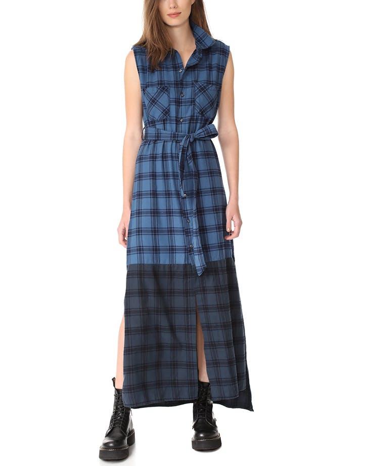 DAL dresses plaid maxi LIST