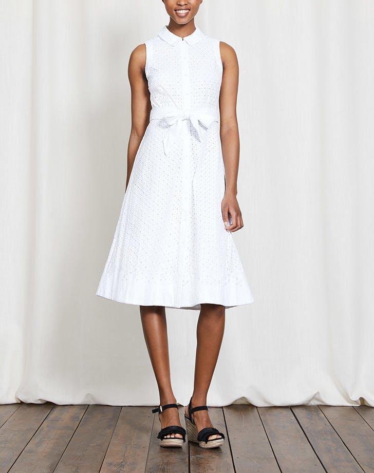 DAL dresses white eyelet shirtdress LIST